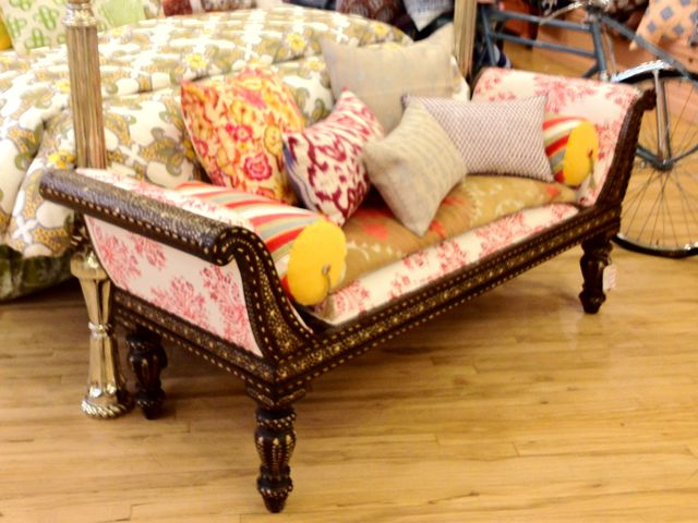 day bed_chaise lounge upholstery_Indian fabric