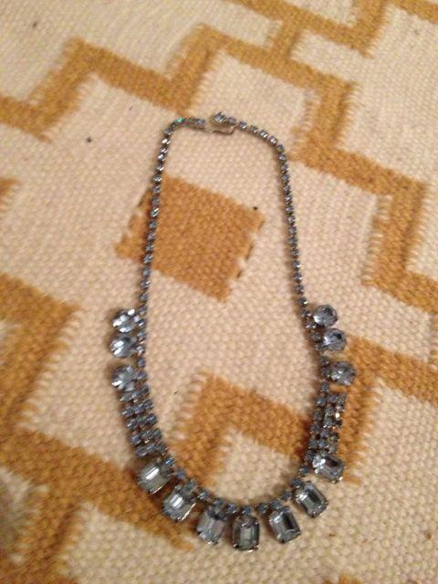 Day 133_blue vintage rhinestone necklace
