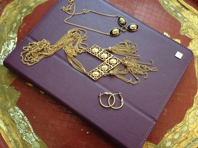 Day 135_gold hoops_Limoges necklace