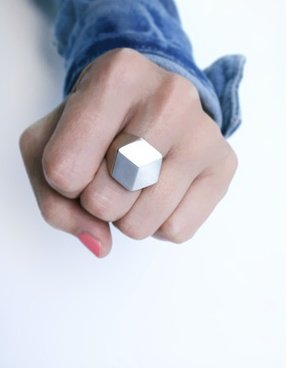 {Pictofactum 'Geometric' ring in silver on Collektions.com}