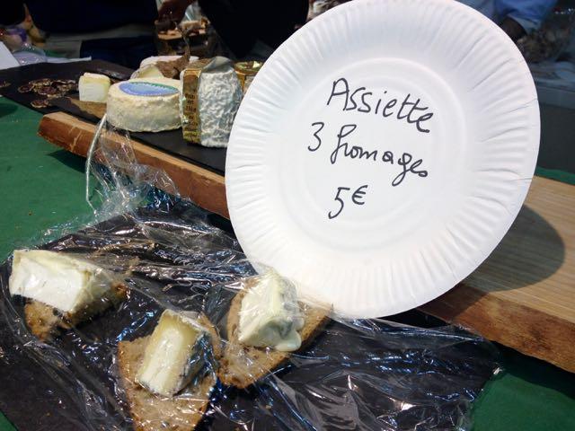 Salon d'Agriculture_assiette de fromage