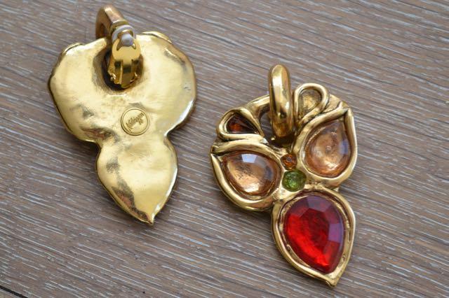 vintage Kalinger earrings_back