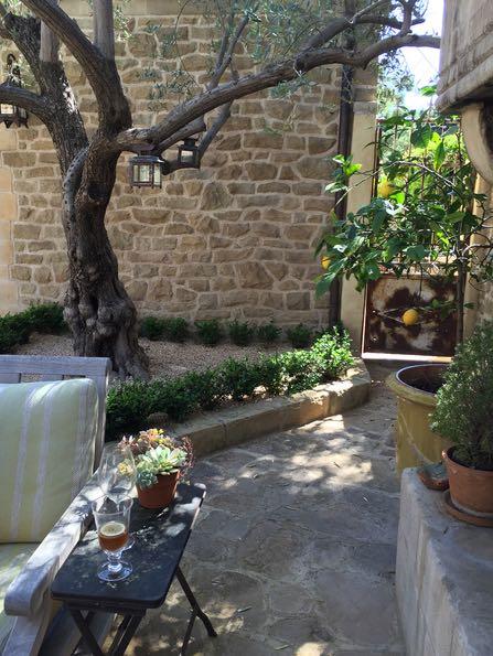 courtyard in Montecito